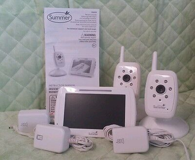Summer Inview  Color Baby Monitor w/2 Cameras model 28650 -GC LINE IN SCREEN