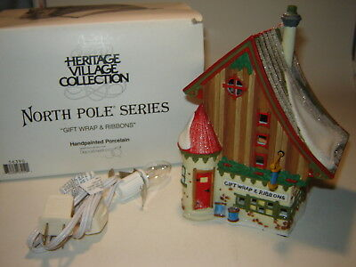Dept 56 North Pole - Gift Wrap & Ribbons