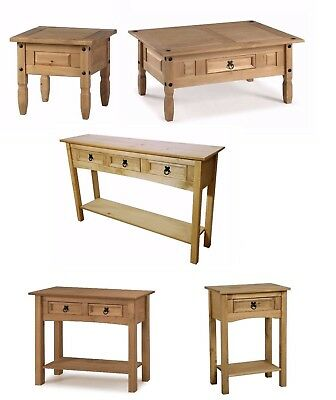 Corona Coffee Table Lamp Console Hall Tables Solid Pine by Mercers Furniture®