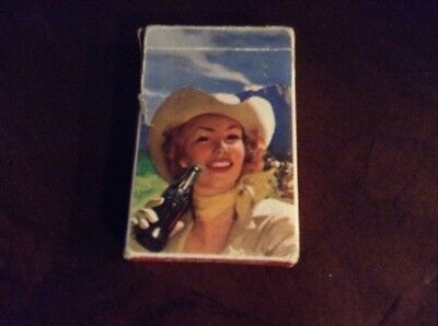 1951 Drink Coca-Cola Cowgirl At The Party Playing Cards, Complete Deck With joke