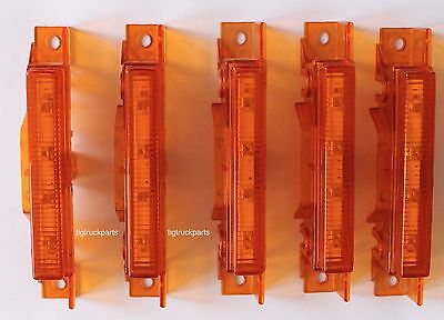 Volvo Vnl, Vn, Vnm Led Cab Marker  Light Set 5 Pcs- Part Number 85107907