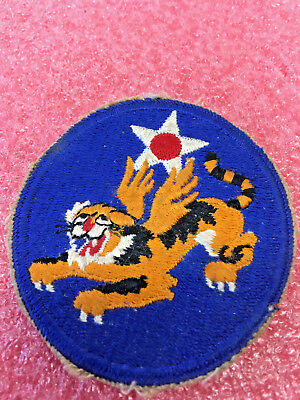 Ft1 Vintage Ww2 14Th Us Army Air Force Military Patch Ww Ii Uniform Flying Tiger