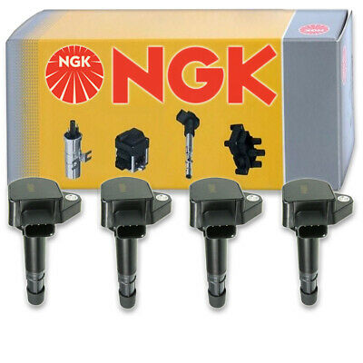 4 pcs NGK Ignition Coil for 2001-2005 Honda Civic 1.7L L4 - Spark Plug Tune rx