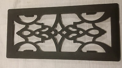 Victorian Cast Iron floow register face plate by GRATE ACCENTS 4x10 NIB Antique