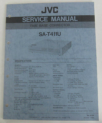 Service Manual for JVC SA-T411U Time Base Corrector