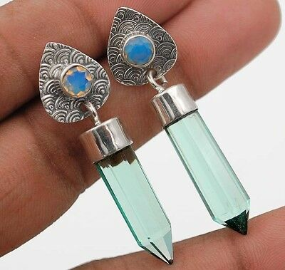16CT Aquamarine 925 Solid Sterling Silver Earrings  Jewelry