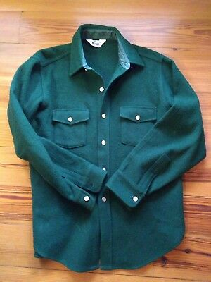 VINTAGE Made in USA WOOLRICH Mens Heavy Wool Shirt Jacket L?  see measurements