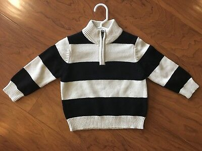 Children's Place Baby Toddler Boys 12-18 Months Striped Sweater Cardigan