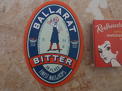 , Ballarat Bertie 26 Fluid Oz label Unused
