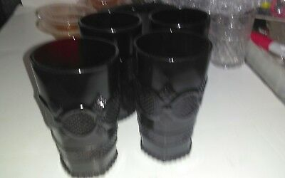 Vintage Avon Ruby Red Cape Cod Tall Tumblers set of four