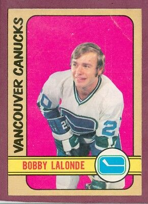 # 217 Bobby Lalonde Rookie Rc 1972-73 O Pee Chee 72-73 Opc Vancouver Canucks