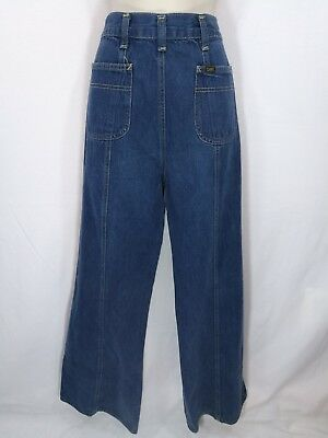 Vintage Ms Lee High Waist Bellbottom Jeans 12 Wide Leg Flare Union and USA Made