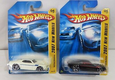 Hotwheels 2007 First Edition 1969 Ford Mustang White Black Die Cast 1:64