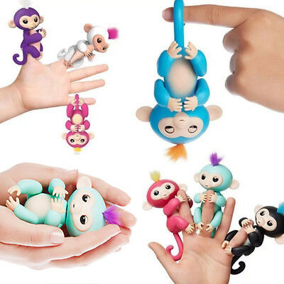Finger Baby Monkey Lings Electronic Interactive Fingerlinks Toys Pet Kids Gifts