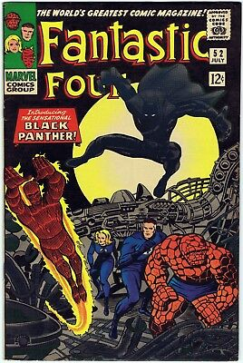 FANTASTIC FOUR 52 1966 Marvel Comics 1st appearance of THE BLACK PANTHER