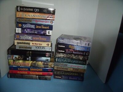 Lot Of 23 R.a. Salvatore*legend Of Drizzt*forgotten Realms*thousand Orcs