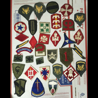 LARGE LOT - Military Uniform Patches - mostly US from WW2 - Vietnam L@@K!!