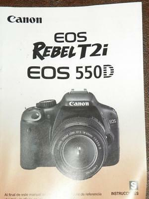 canon rebel t2i eos 550d digital camera user instruction guide rh picclick com canon eos rebel t2i 550d user manual canon eos rebel t2i user manual pdf