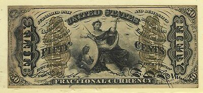 Fr#1355 50¢ Third Issue Justice Fractional, Hand Signed