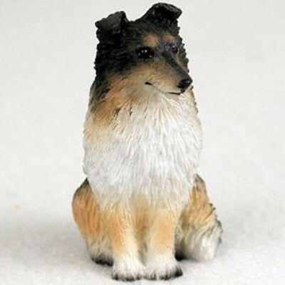 SHELTIE TRI COLOR TINY ONES DOG Figurine Statue Pet Lovers Gift Resin