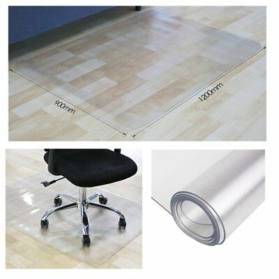 90x120cm Non-Slip PVC Home Office Chair Floor Clear Mat Carpet Frosted Protector