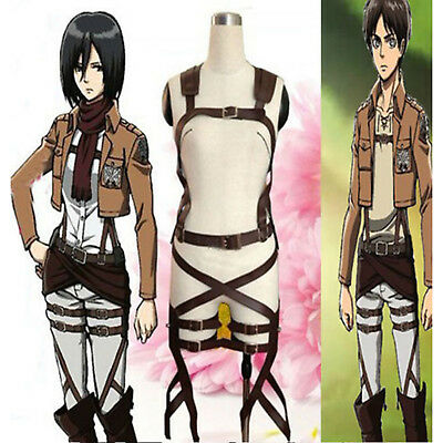 Amine Attack On Titan Cosplay Costume Adjustable Strap Belts Harness Outfit