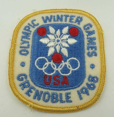 Vintage New Old Stock 1968 Grenoble Winter Olympic Games Sew On Patch