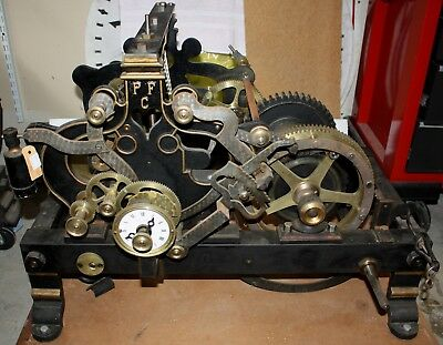 ANTIQUE FRENCH TOWER CLOCK. PAGET FRANCIS, TIME/STRIKE w AC WIND or CRANK OPTION