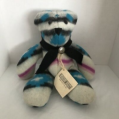 Rare Wool Teddy Bear Woolen Rustic Aztec Wagons West Trading Co Numbered