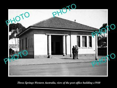 OLD LARGE HISTORIC PHOTO OF THREE SPRINGS WESTERN AUSTRALIA POST OFFICE c1940