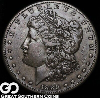 1889-CC Morgan Silver Dollar, Highly Collectible AU+ RARE Low Mintage Key Date!