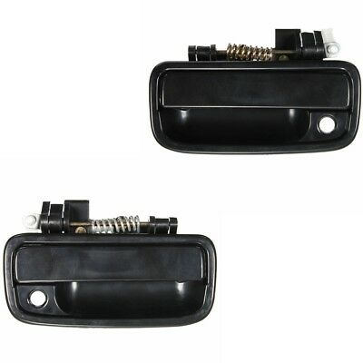 Pair Outside Exterior LH &RH Front Door Handle For Toyota Tacoma 1995-2004 Black