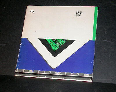 WYSE 85 Terminal User's Guide 1985
