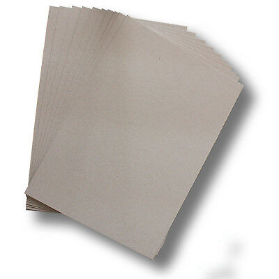 BoxBoard Backing Card ChipBoard 350gsm .6mm A4 Grey 100% ReCycled #B1008
