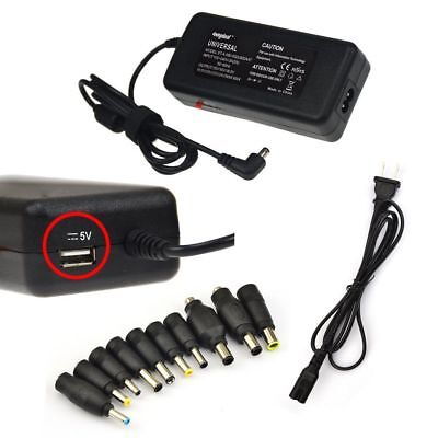 10 Tips 90W Laptop Notebook Universal AC Adapter Charger Power Supply + Cable