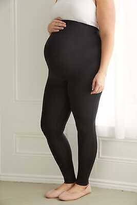 Plus Size Womens Bump It Up Maternity Leggings With Tummy Control Panel