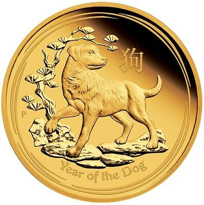 2018 $100 Aust Lunar Series - Year of the Dog - 1oz Gold Proof Coin - Perth Mint