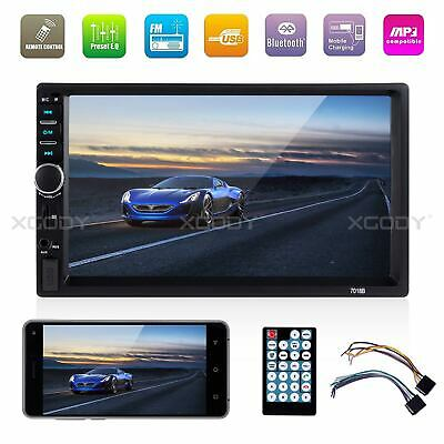 "7"" 2 DIN Bluetooth Touch Screen Car Stereo Radio MP5 Player FM/MP3/USB AUX Input"