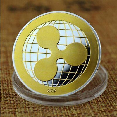 Gold & Silver Ripple Coin Commemorative Round Collectors Coin Crypto XRP Coins