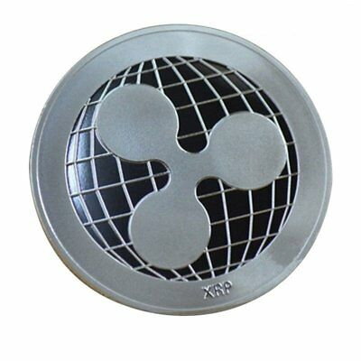 Silver Plated Ripple Coin Commemorative Round Collectors Coin Crypto XRP Coins