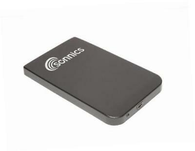 Sonnics 250GB 2.5 Inch Black External pocket Hard drive USB powered for use