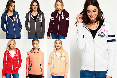New Womens Superdry Hoodies Selection - Various Styles & Colours 1601 1