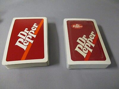 Dr Pepper Playing Cards From The 1980's  Two Decks