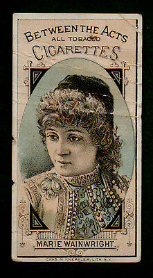 1884 N342-3 Hall Tobacco Card Actresses Fancy Corners Marie Wainwright