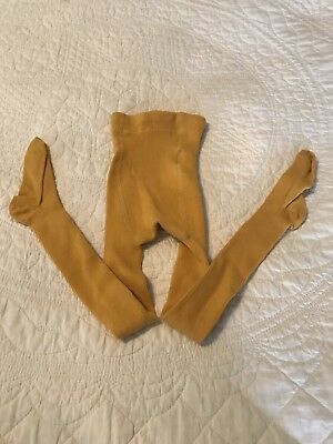 NWOT Hanna Andersson Mustard Warm Winter Tights 90 US 3 Toddler Gold Yellow