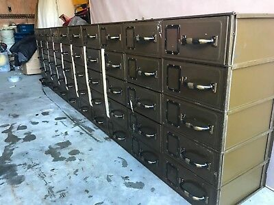 Antique Court House Filing Cabinets (Lot of 5)