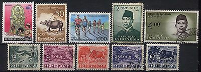 Indonesia Lot Of 10 Used Stamps