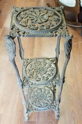 Antique Victorian Cast Iron Plant Stand~ Nice Piece~ Circa 1890's  WE SHIP!