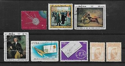 1CUBA 8 USED STAMPS (Michel # 1352,1362,1747,1853,2047,2608,3279)