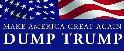 "Anti Donald Trump republican decal bumper sticker ""Make America great again"""